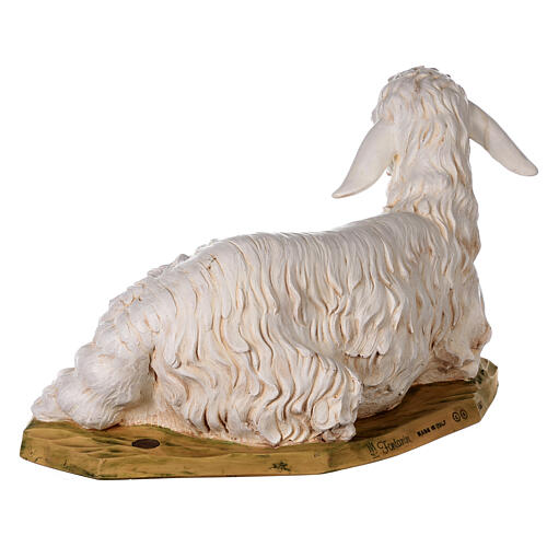 Pecora seduta 125 cm resina Fontanini 7