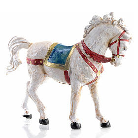 Animali presepe: Cavallo bianco 12 cm Fontanini