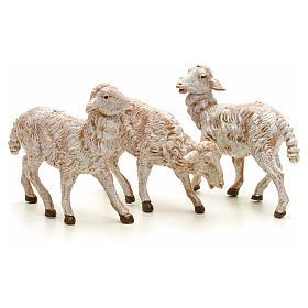 Animales para el pesebre: Ovejas belén altura media 19 cm Fontanini 3 pz