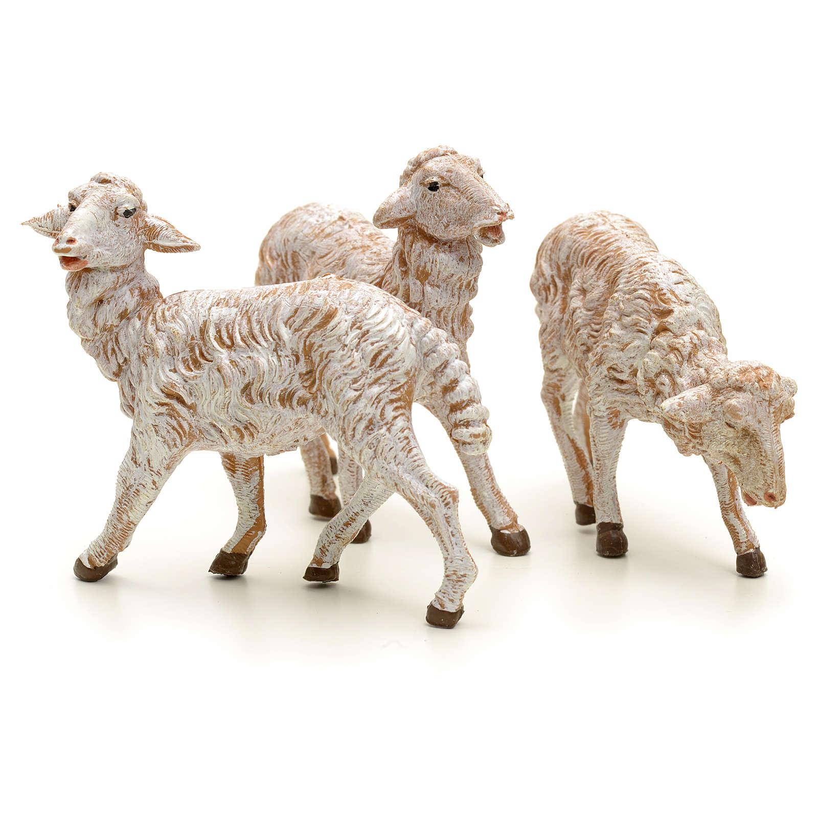 Pecore presepe 19 cm Fontanini 3 pz 3