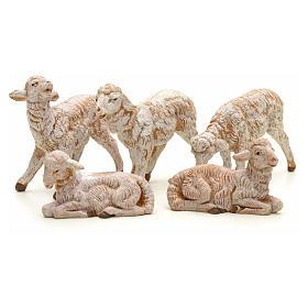 Ovelhas presépio para Presépio Fontanini com pastores de altura média 12 cm 5 peças s2