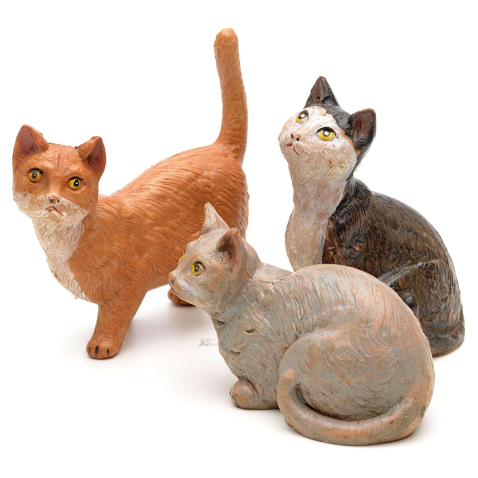 3 Gatti per presepe 30 cm Fontanini 3