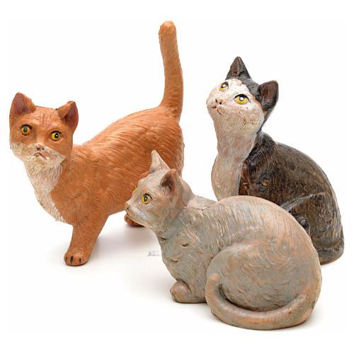 3 Gatti per presepe 30 cm Fontanini 1