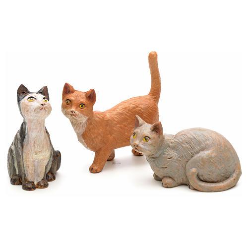3 Gatti per presepe 30 cm Fontanini 2