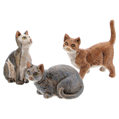 3 koty do szopki 30 cm Fontanini 1