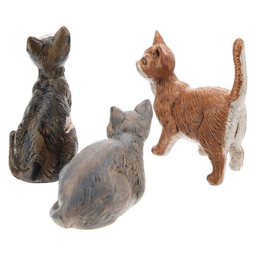 3 koty do szopki 30 cm Fontanini 2
