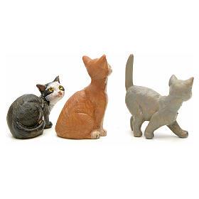 Gatos 3 peças para Presépio Fontanini com figuras de altura média 12 cm s2