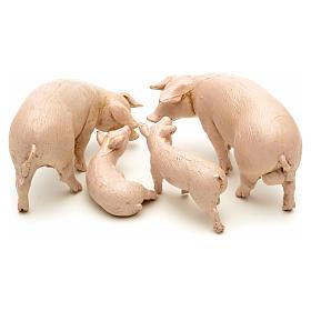 Famille de porcs pour crèche 12 cm Fontanini 4 pcs s2