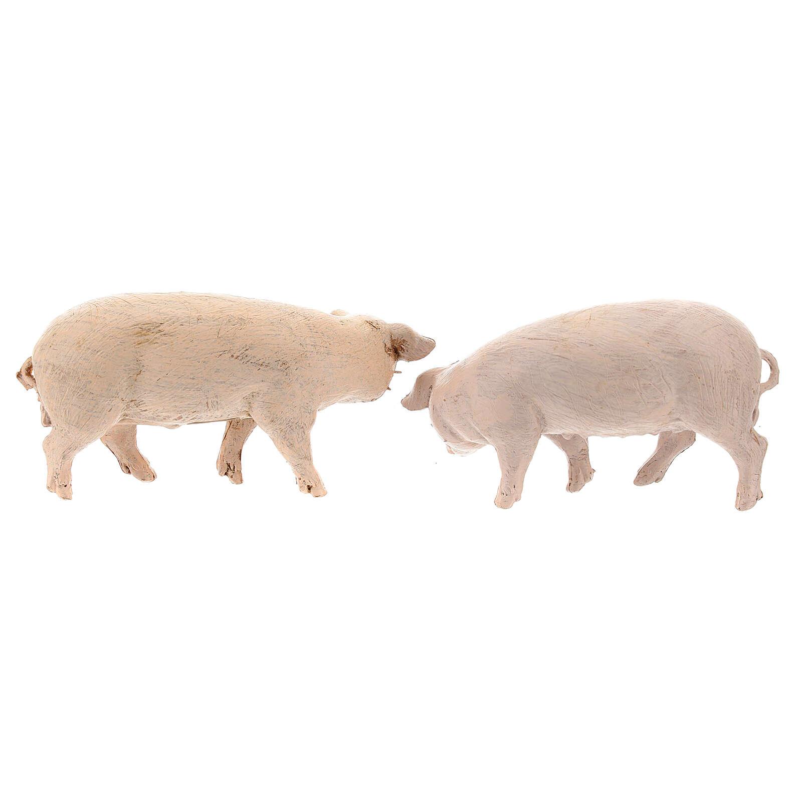 Vara de porcos 4 peças para Presépio Fontanini com figuras de altura média 12 cm 4