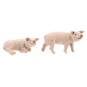 Vara de porcos 4 peças para Presépio Fontanini com figuras de altura média 12 cm s3