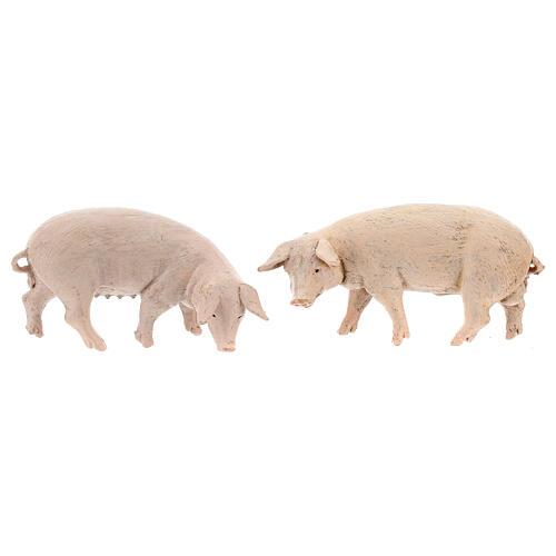 Vara de porcos 4 peças para Presépio Fontanini com figuras de altura média 12 cm 2