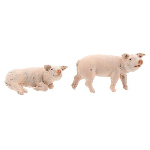 Vara de porcos 4 peças para Presépio Fontanini com figuras de altura média 12 cm 3