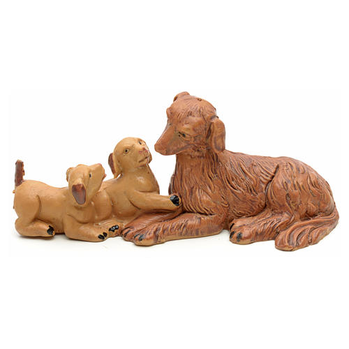 Familia de perritos cm 12 Fontanini 1