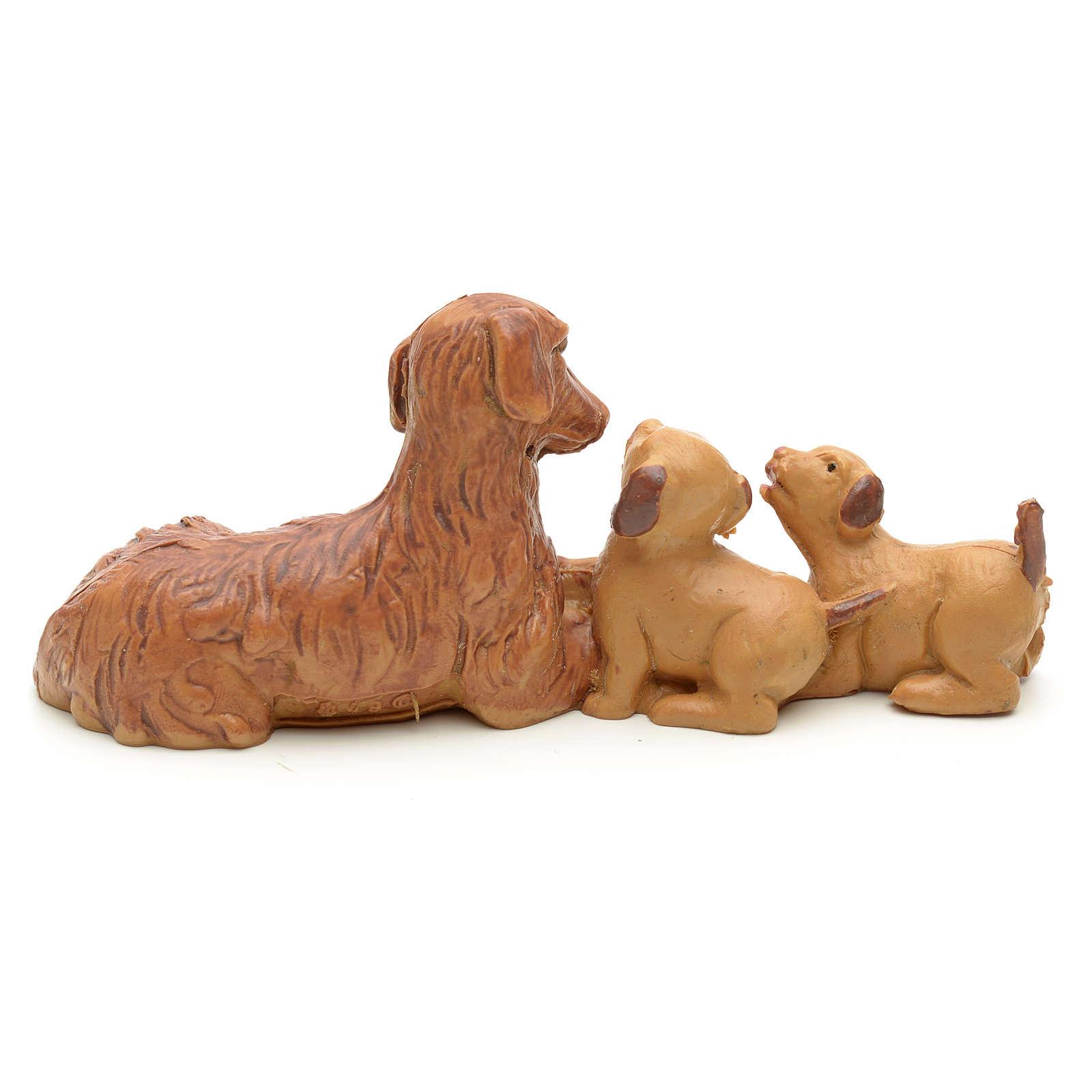 Famiglia di cani cm 12 Fontanini 3