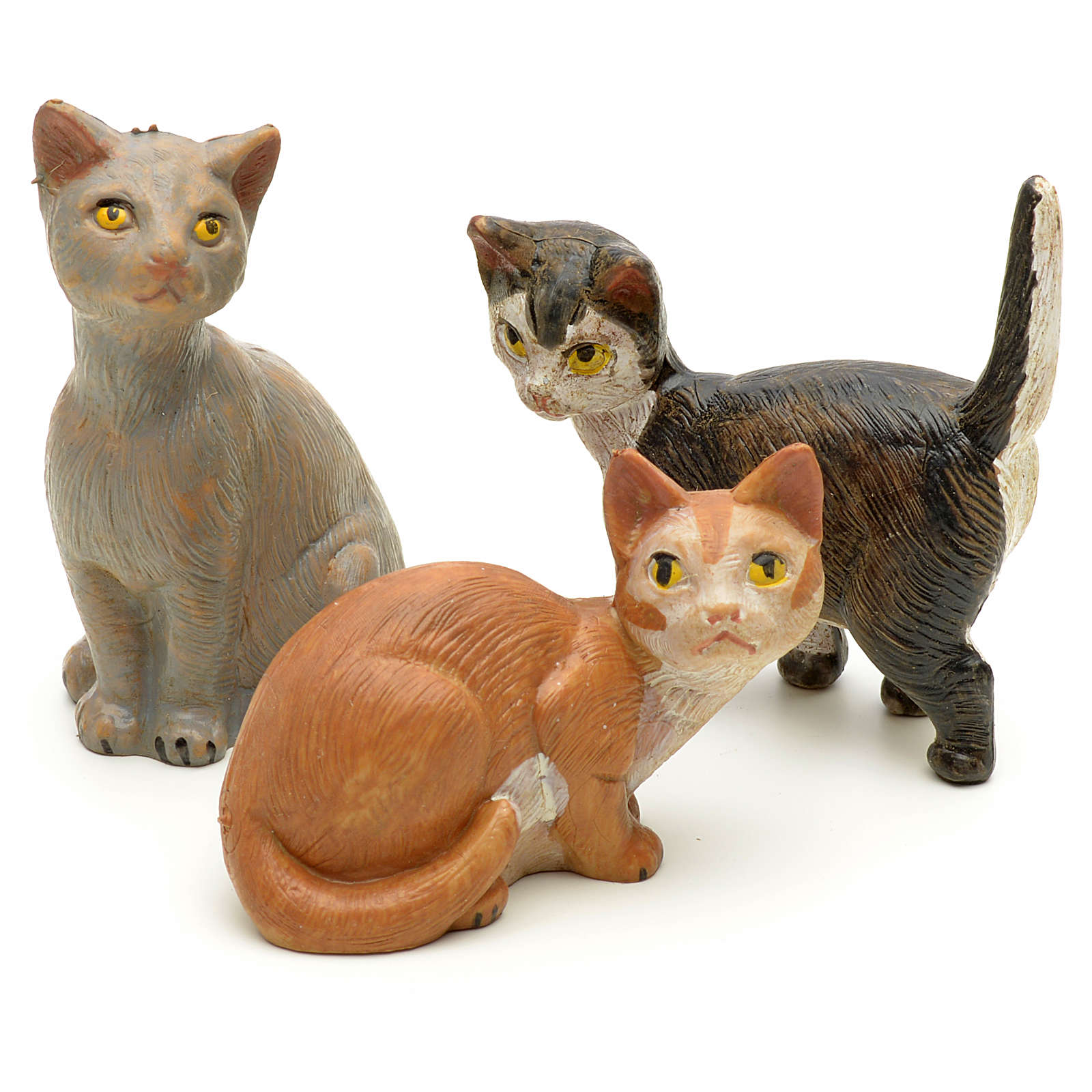 Famille de chats crèche Fontanini 19 cm 3