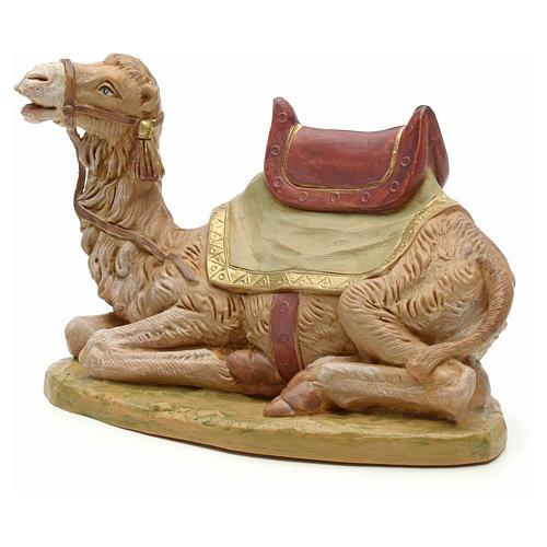 Camello sentado para belén Fontanini con figuras de altura media 19 cm 2