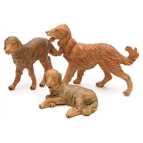 Cães para Presépio Fontanini com figuras de altura média 12 cm 1
