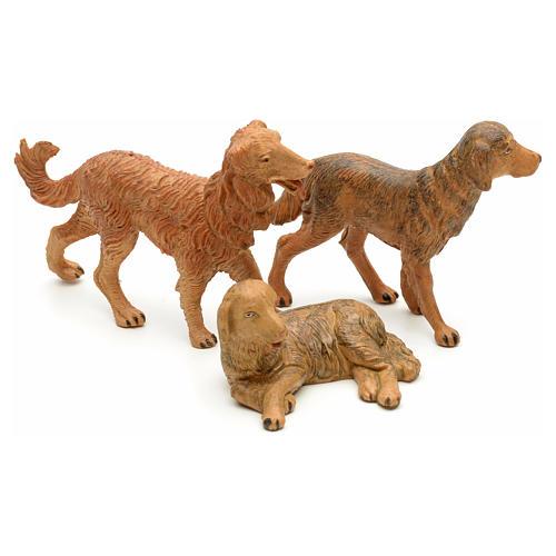 Cães para Presépio Fontanini com figuras de altura média 12 cm 2