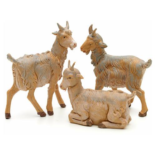 Cabras para Belén de Navidad de altura media 12 cm, Fontanini 1