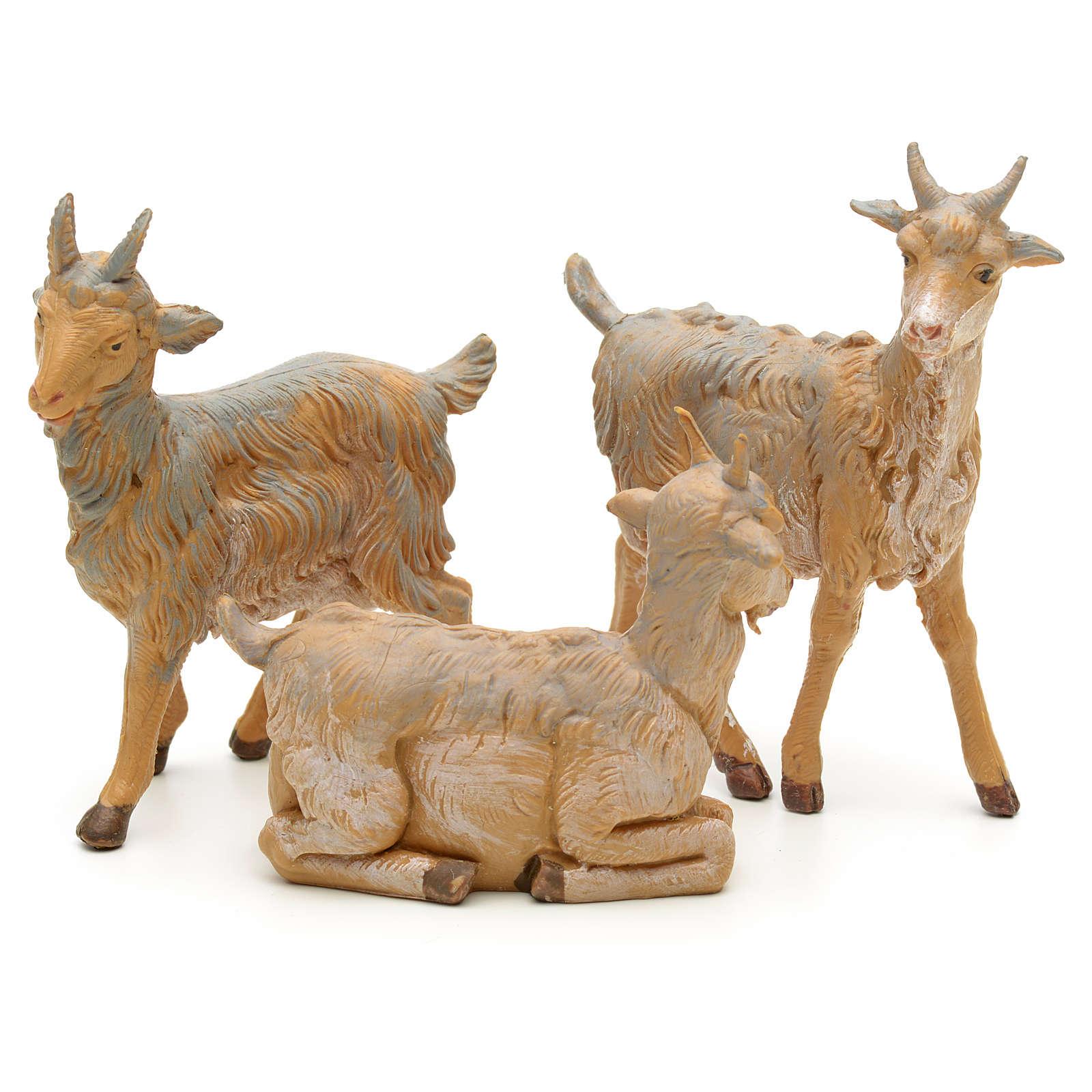 Cabras 3 peças para Presépio Fontanini com figuras de altura média 12 cm 3