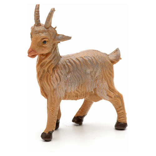 Cabra de pie para Belén Fontanini con figuras de altura media 6,5 cm 1