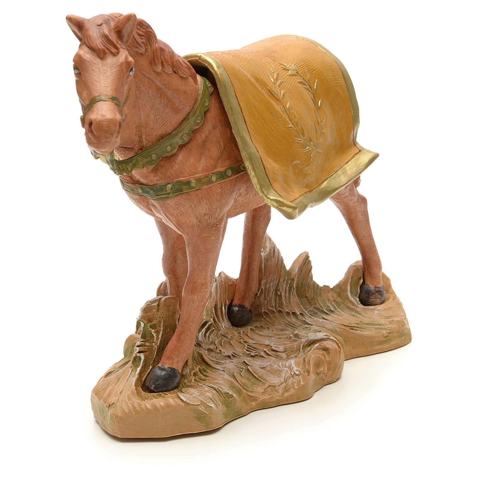 Cheval marron crèche Fontanini 19 cm 3