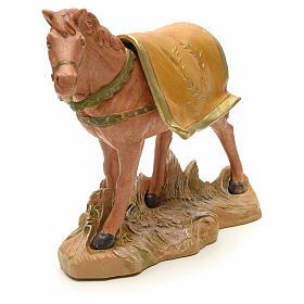 Cheval marron crèche Fontanini 19 cm s4