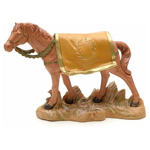 Cheval marron crèche Fontanini 19 cm 1
