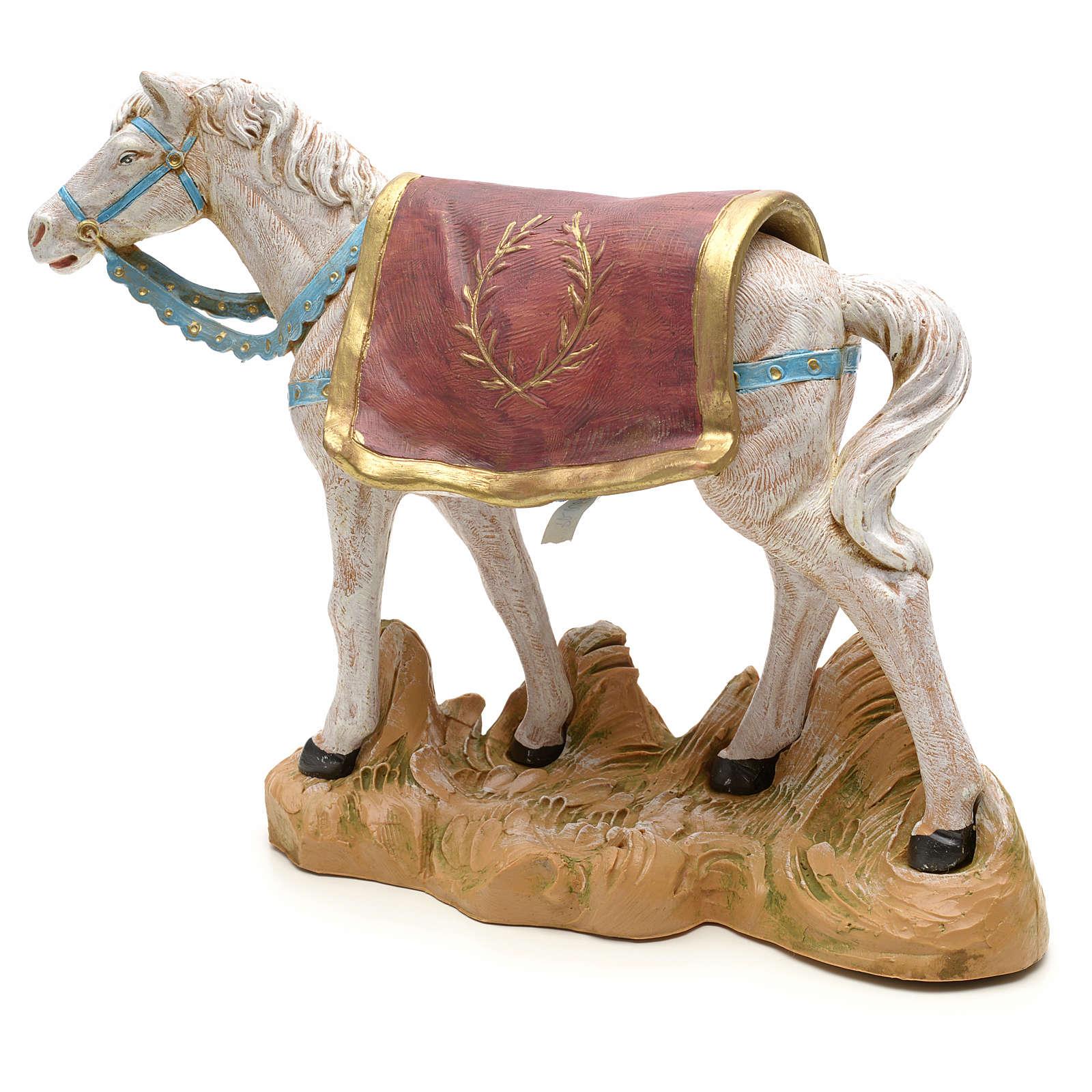 Cavallo bianco 19 cm Fontanini 3