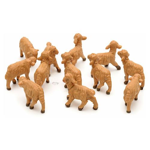 Pecore assortite 12 pezzi per presepe di altezza media 6,5 cm Fontanini 2