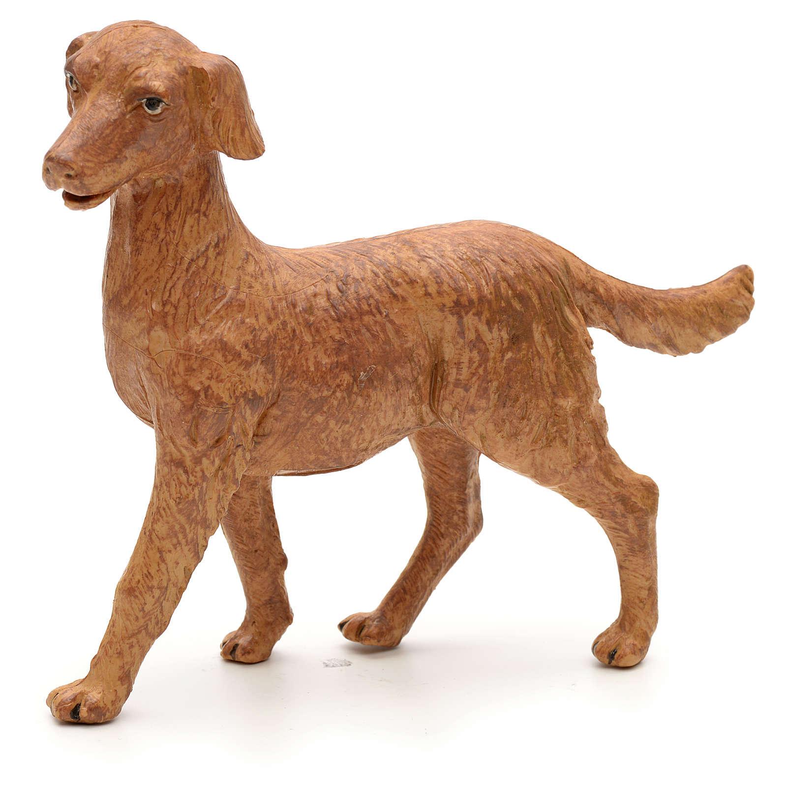 Cão em pé para Presépio Fontanini com figuras de altura média 30 cm 4
