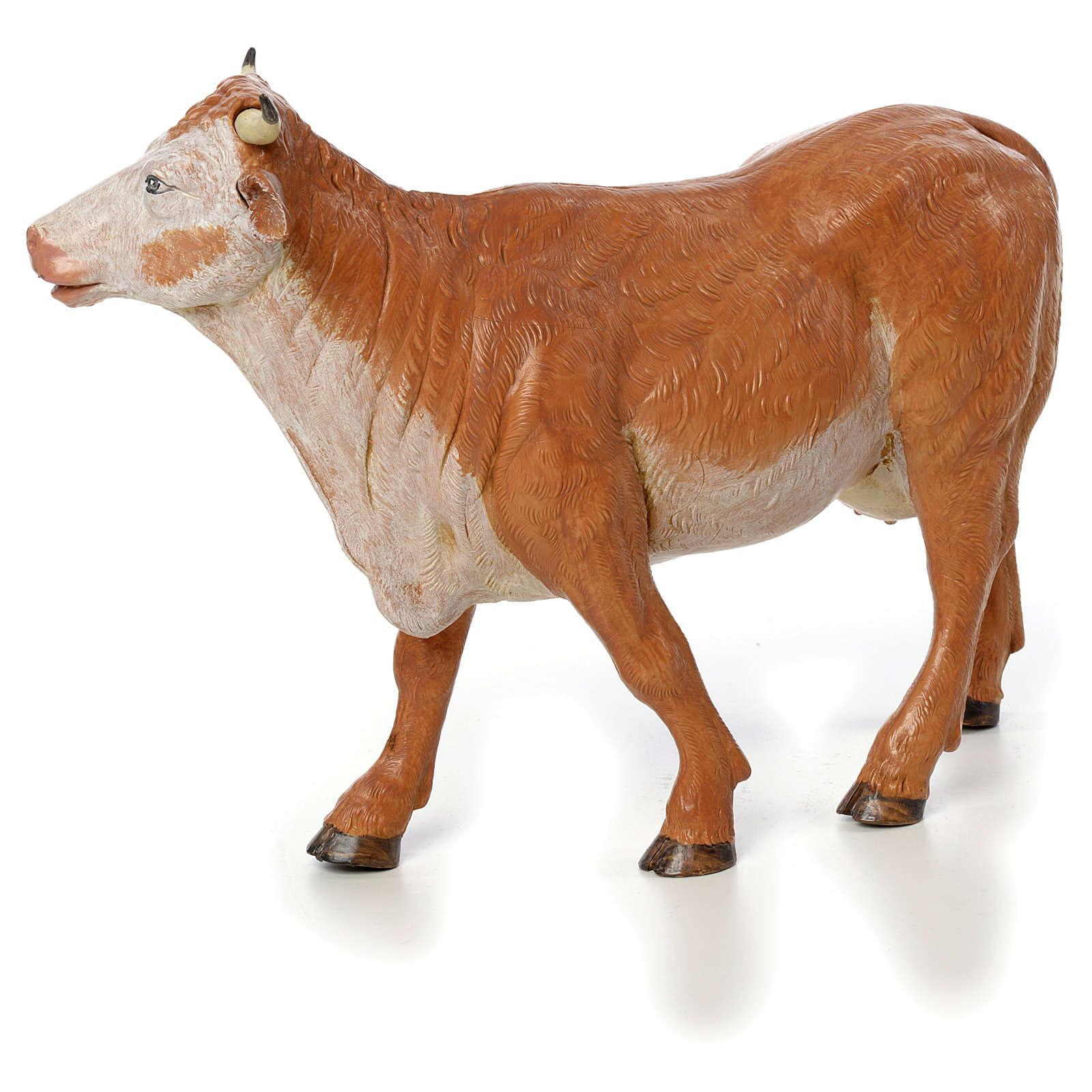 Vache debout crèche Fontanini 30 cm 4