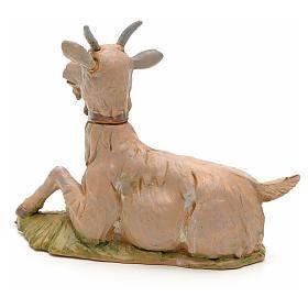 Cabra deitada ara Presépio Fontanini com figuras de altura média 30 cm s2