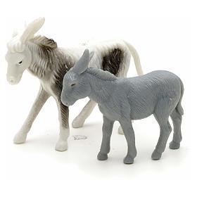 Animals for Nativity Scene: Nativity figurine, donkeys for shepherd measuring 6cm