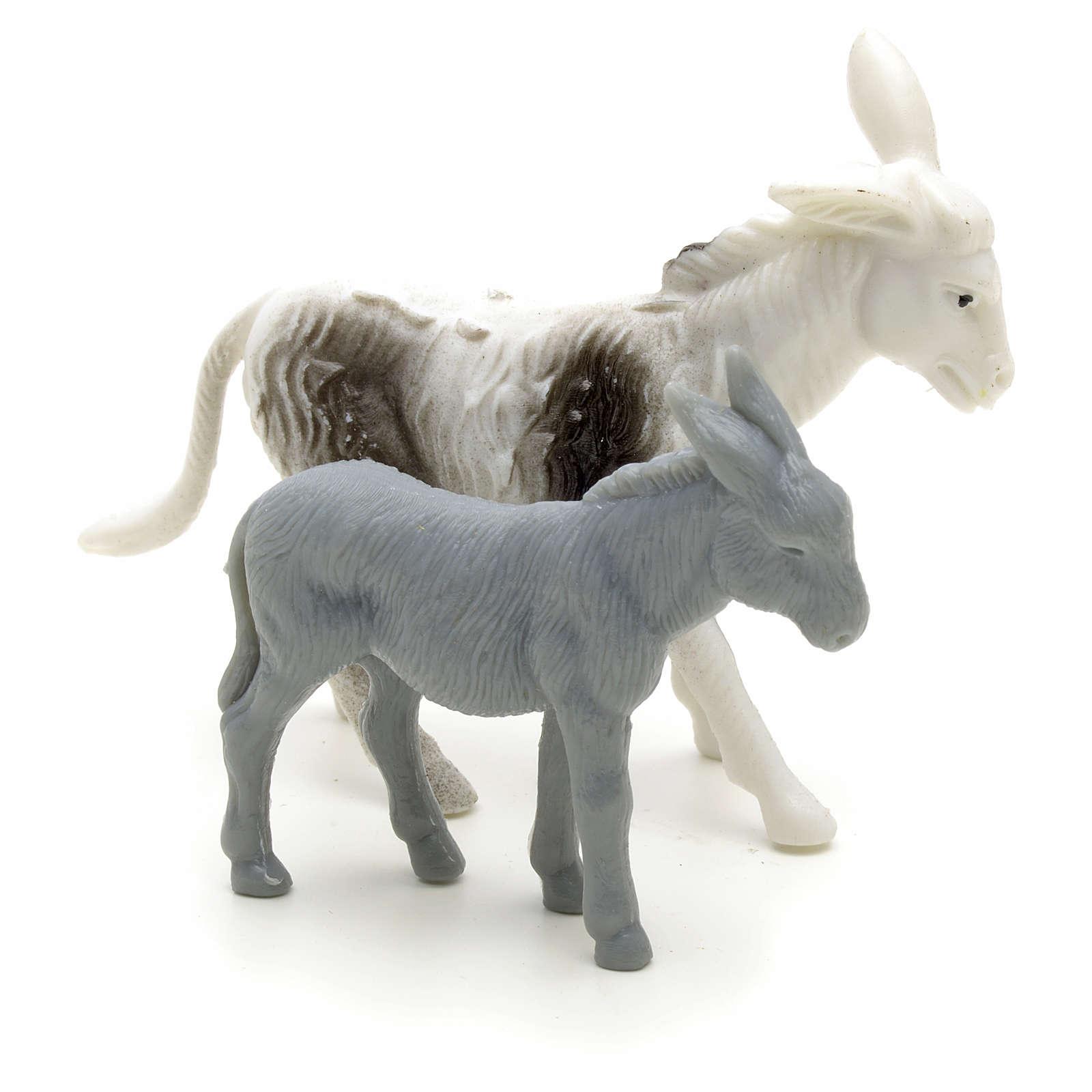 Osły dla pasterza szopka cm 6 3