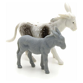 Nativity figurine, donkeys for shepherd measuring 6cm s2