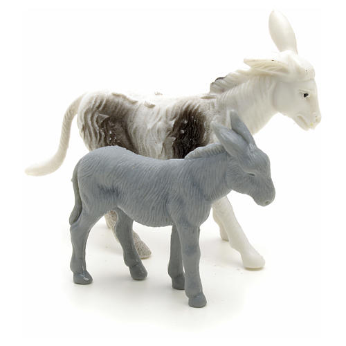 Nativity figurine, donkeys for shepherd measuring 6cm 2