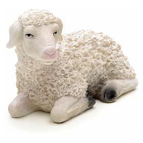 Nativity figurine, sheep in resin 14cm s3