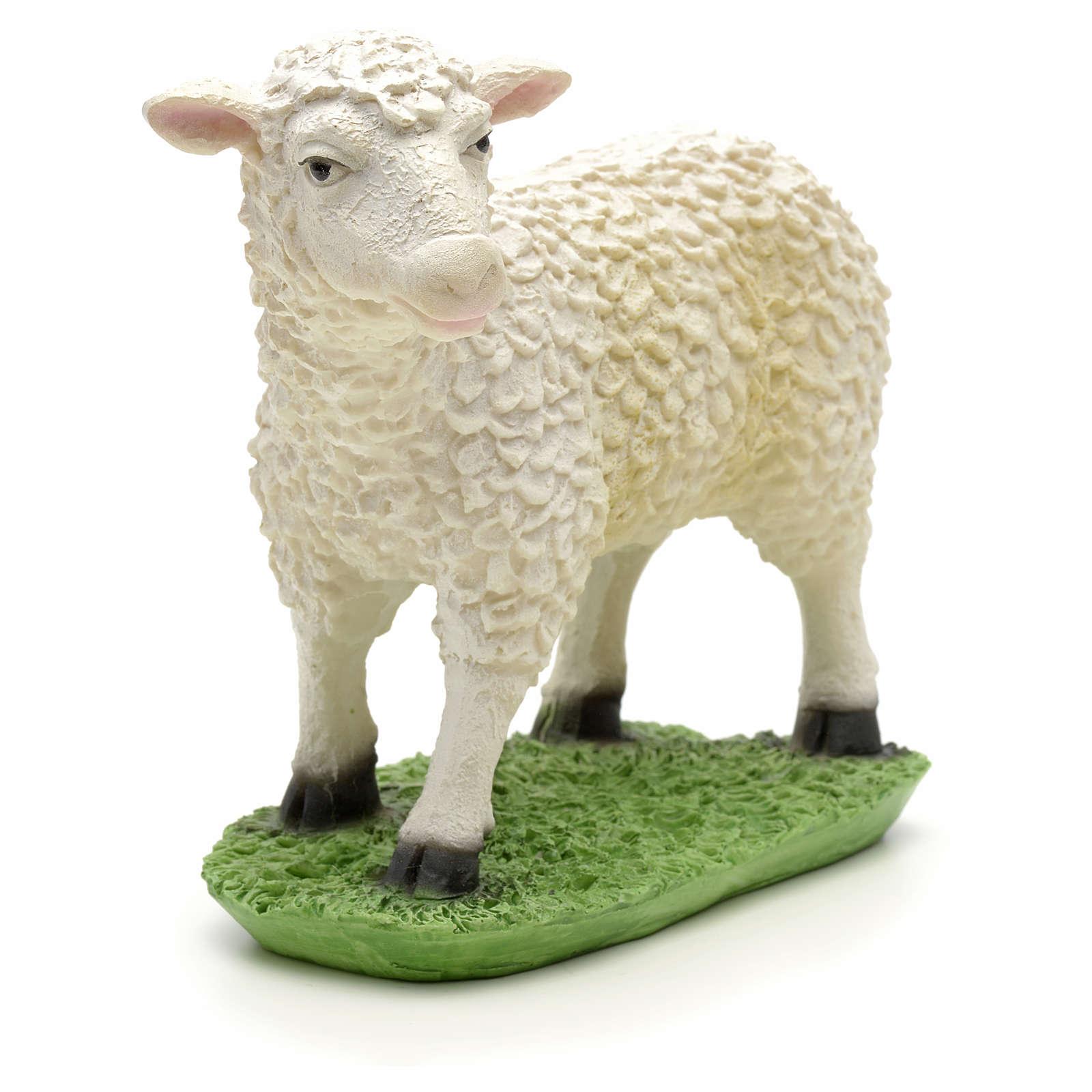 Nativity figurine, sheep in resin 24cm 3