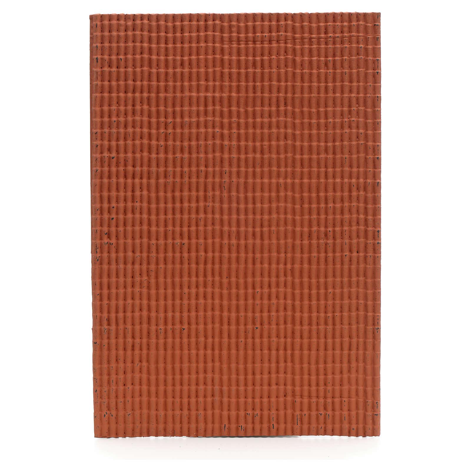 Pannello per tetto tegole piccole rosso 50x35 cm 4