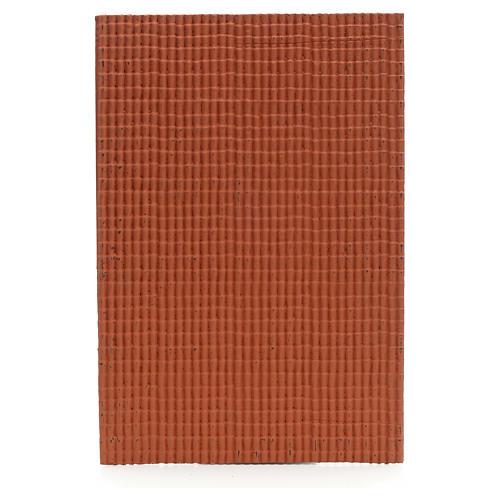 Pannello per tetto tegole piccole rosso 50x35 cm 1