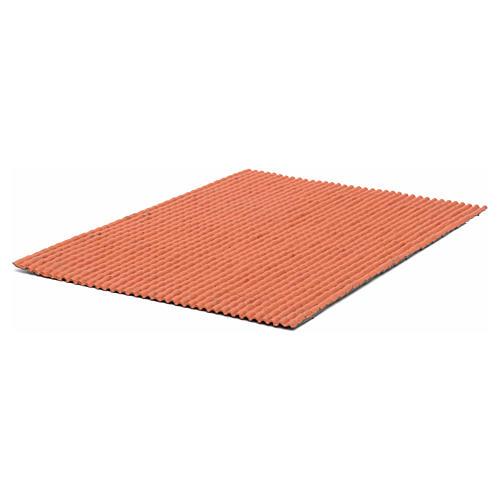 Pannello per tetto tegole piccole rosso 50x35 cm 2