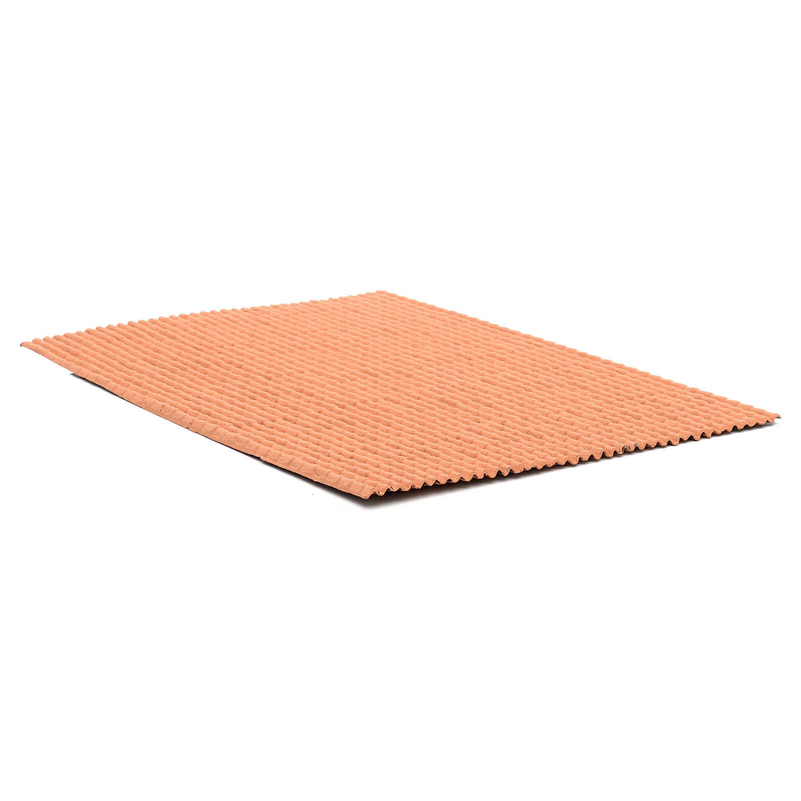 Pannello per tetto tegole color terracotta 50x35 cm 4