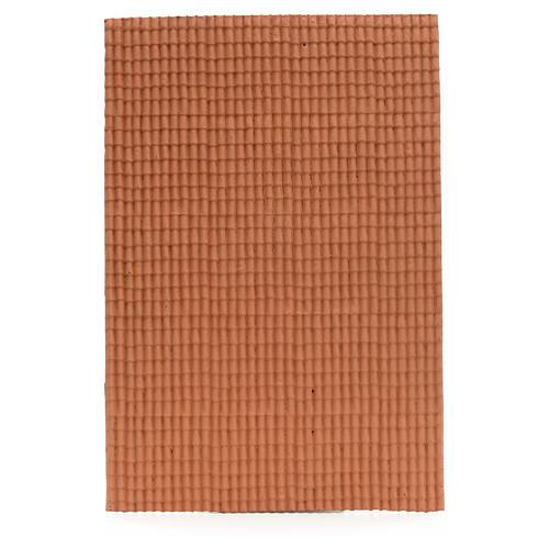 Pannello per tetto tegole color terracotta 50x35 cm 1