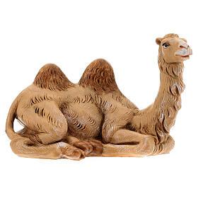 Camelo deitado para Presépio Fontanini com figuras de altura média 12 cm s1