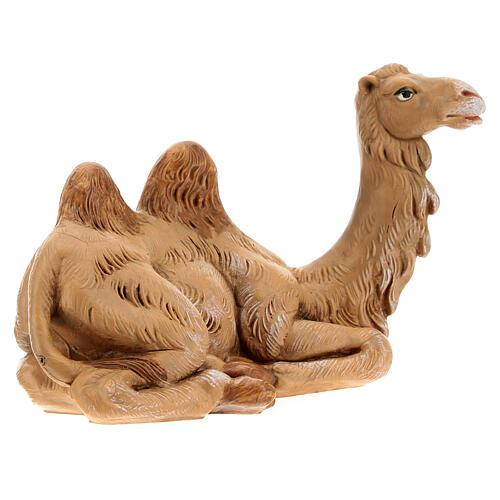 Camelo deitado para Presépio Fontanini com figuras de altura média 12 cm 3