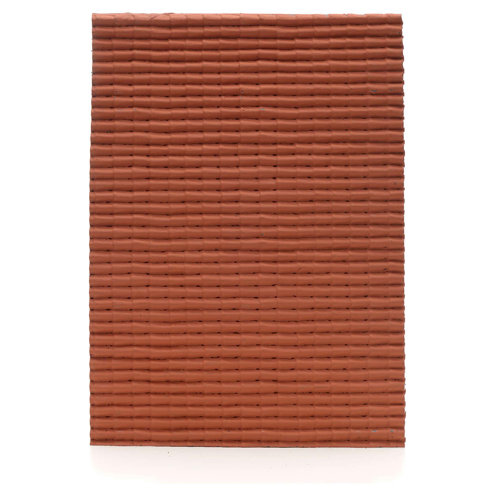 Pannello tetto color rosso 35x25 4