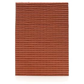 Acessórios de Casa para Presépio: Painel telhado vermelho 35x25 cm