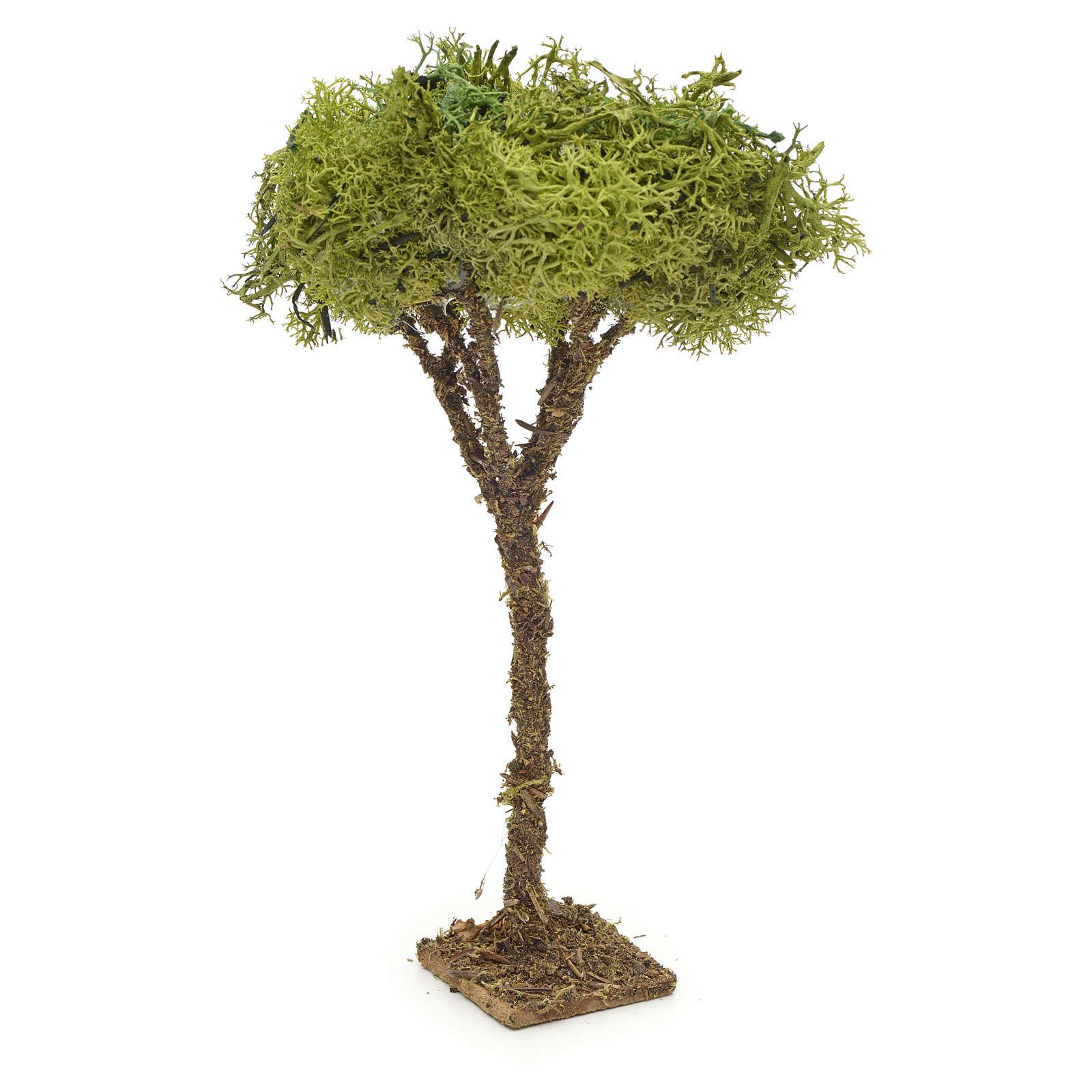 Arbre en miniature avec lichen pour crèche h 16 cm 4