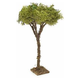 Arbre en miniature avec lichen pour crèche h 16 cm s2